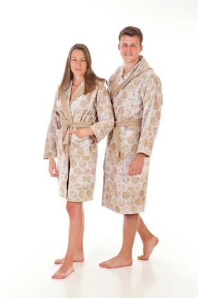 Di Ficchiano Monza certificado /Öko-Tex Standard 100 Albornoz con capucha para hombre XXS kimono con selecci/ón de colores y tama/ños 5XL mullido de fibra de roble noble